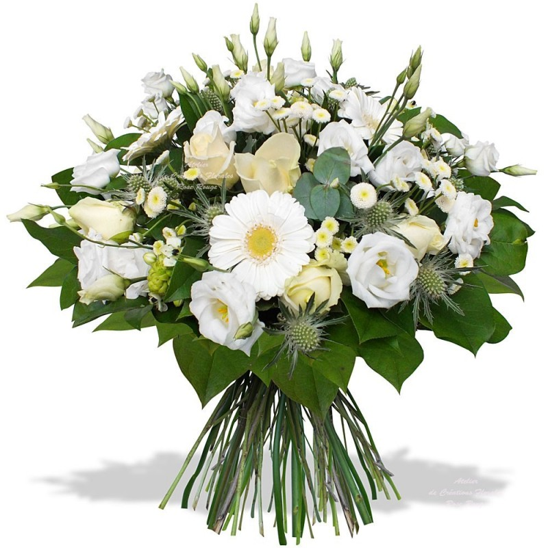 Bouquet champ tre blanc for Bouquet de fleurs 974