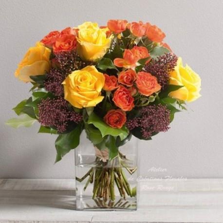 Bouquet de roses panache for Livraison fleurs rennes