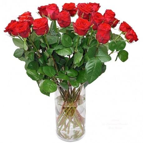 bouquet de roses rouges valérie
