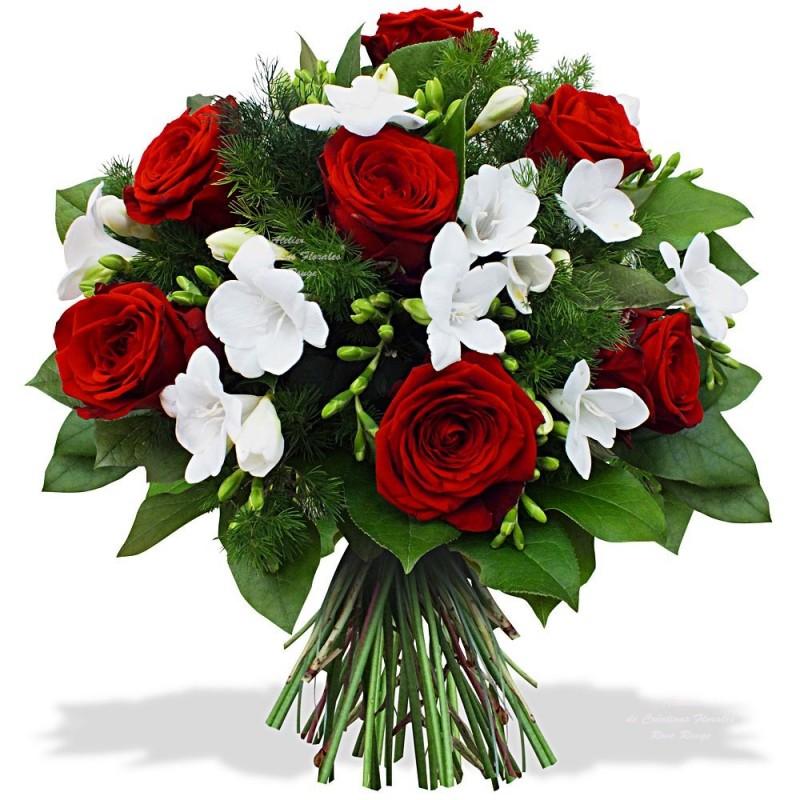 букет из белых и алых роз фото что брестские