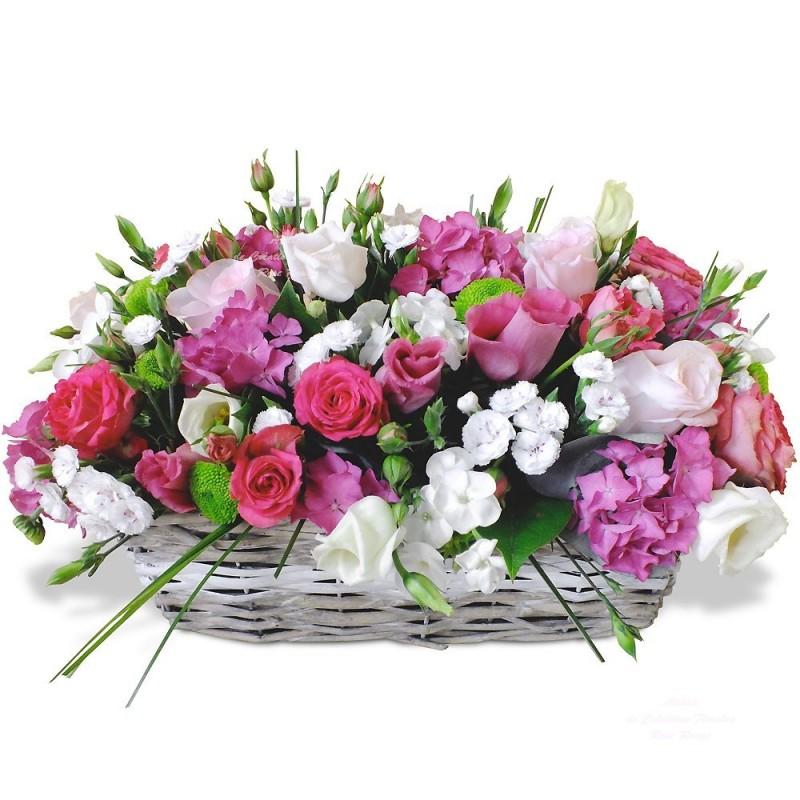Panier De Fleurs Fraîches : Panier de fleurs harmonie