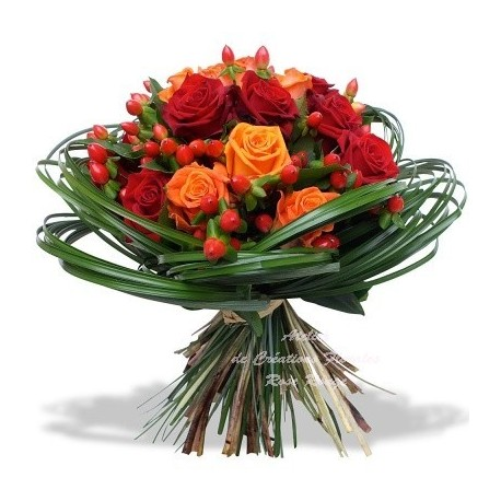 BOUQUET ROSE ARDENTE