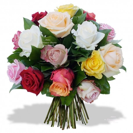 BOUQUET OF ROSES OPALINE