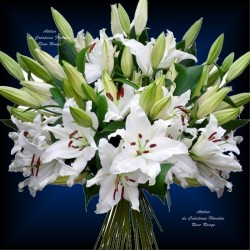 BOUQUET TENDRE LYS BLANC