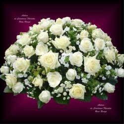 MOURNING WHITE CUSHION