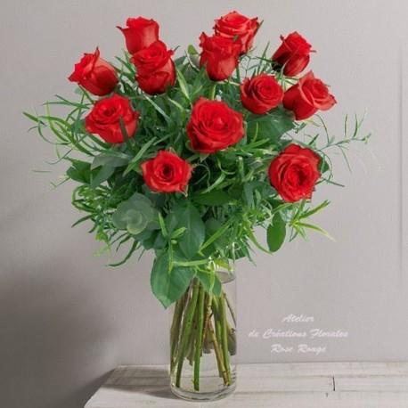 Bouquet de roses rouges glossy for Rose livraison