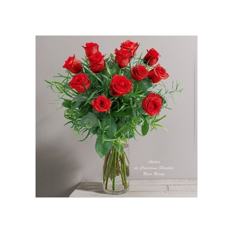 Bouquet de roses rouges glossy for Bouquet de rose