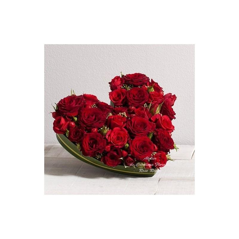 Roses rouges coeur d 39 amour - Image de coeur damour ...