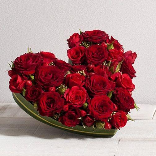 Roses Rouges Coeur D Amour