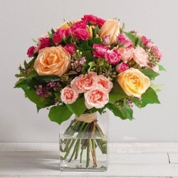 BOUQUET DE ROSES CARESSE