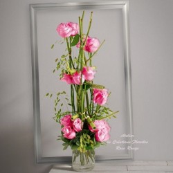 BOUQUET DE ROSES ROSES PLUME